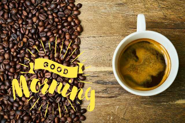 Awesome good morning photo image of coffee cup