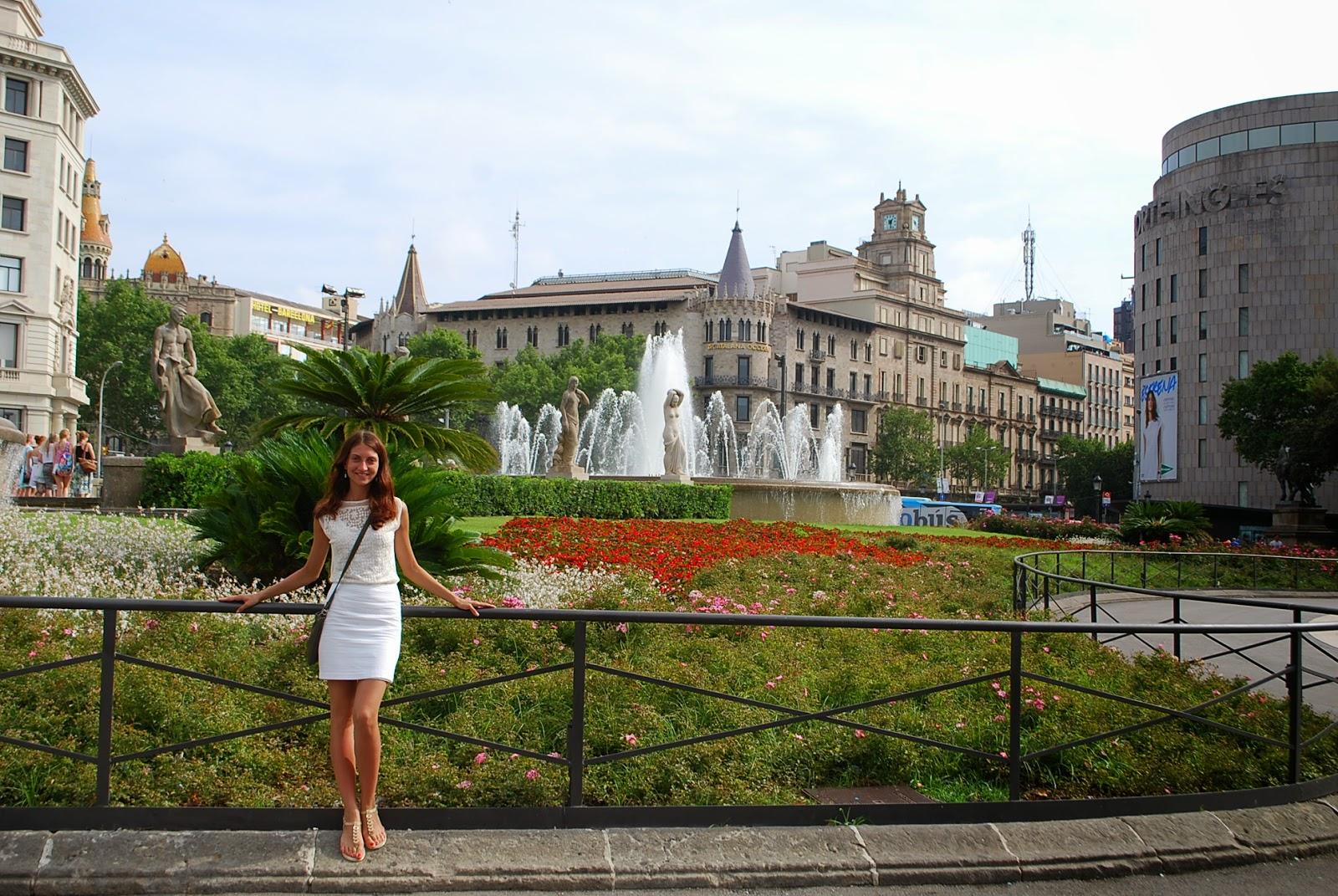 Barcelona, Placa de Catalunya. Барселона, площадь Каталонии.
