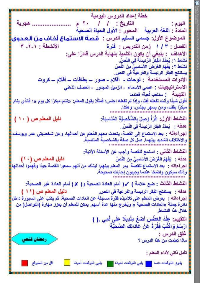 تحضير دروس نافذة اللغة العربية للصف الثالث الابتدائي  أ / رمضان فتحي 1