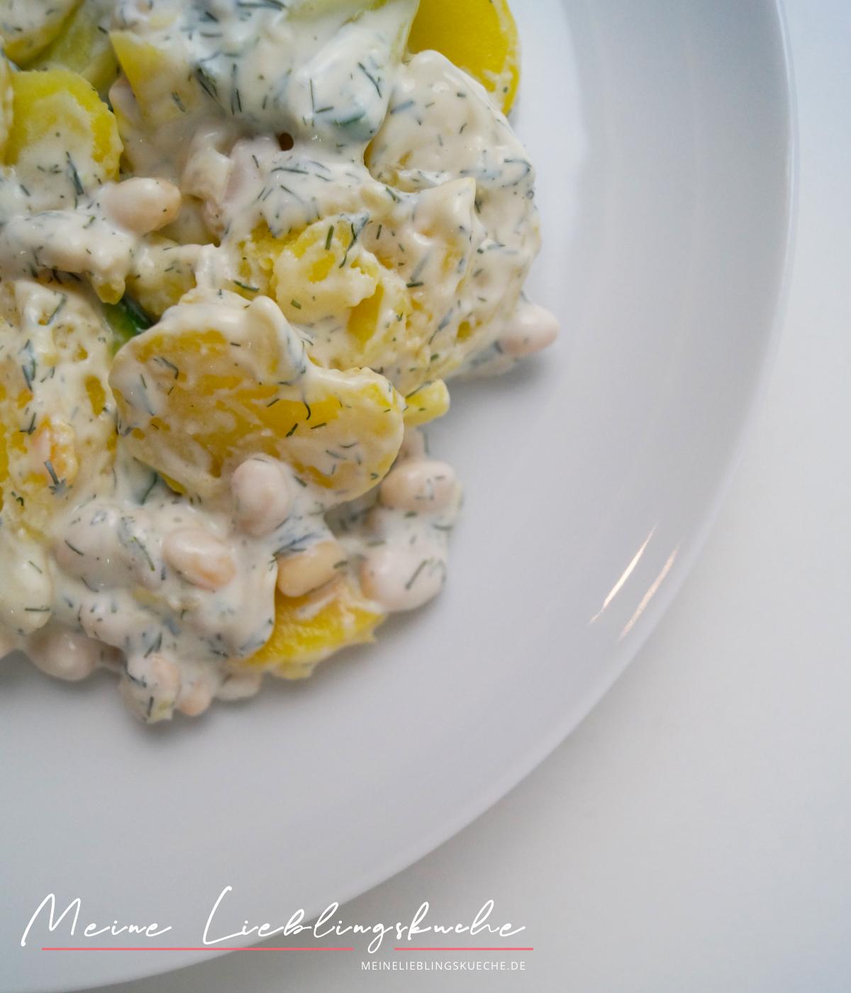 Fitness-Kartoffelsalat mit weißen Bohnen
