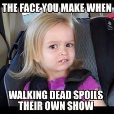 Walkin Dead spoils their own show