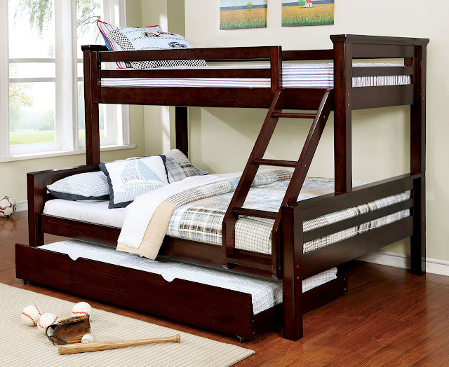 Twin Over Queen Bunk Bed for the Children Room at Home