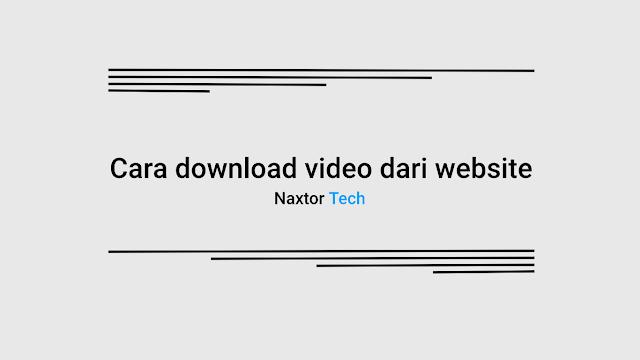cara download video dari website