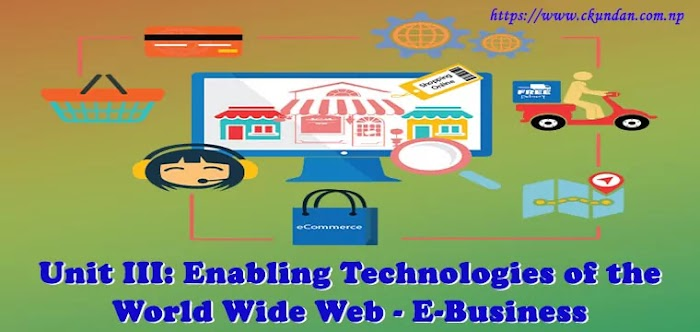 Unit III: Enabling Technologies of the World Wide Web - E-Business