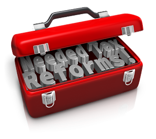toolbox; inside says needed tax reforms