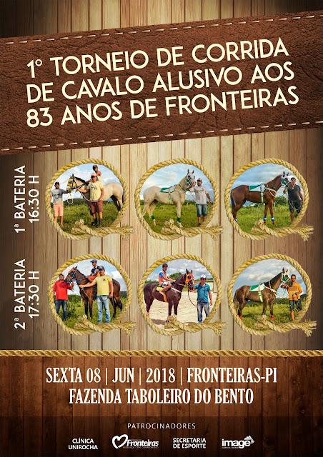 1º TORNEIO DE CORRIDA DE CAVALO ALUSIVO AOS 83 ANOS DE FRONTEIRAS - PI