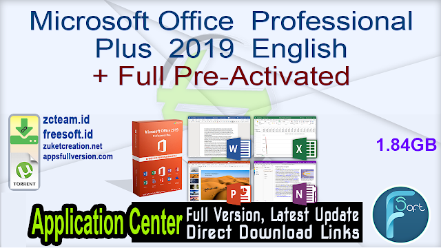 Microsoft Office  Professional Plus  2019  English + Full Pre-Activated _ ZcTeam.id