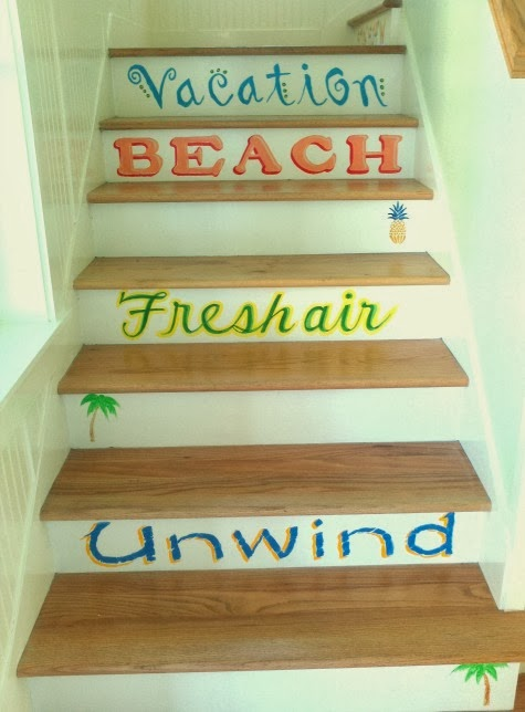 staircase with saying