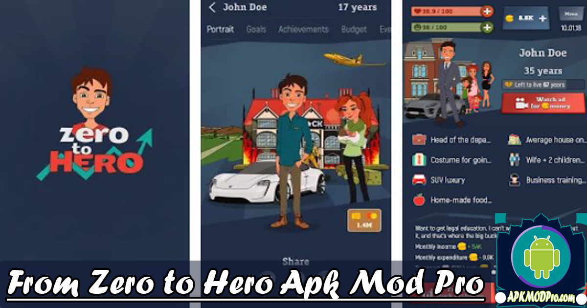 Download From Zero to Hero: Cityman MOD APK V 1.4.5 (Unlimited Coins) Terbaru 2020