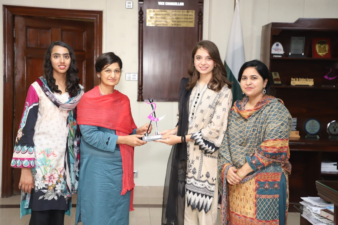 Entrepreneurial Society GCWUF held graduation (2020-2021) award ceremony on 10 July 2021, under the supervision of Dr. Nuasheen Sayed (President Entrepreneurial Society) and Ex Vice president of Entrepreneurial Society Miss Maida Infal. Ms. Amara Javed, Incharge Media Cell was also present on the occasion.