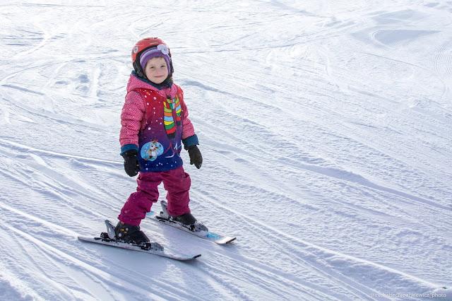 narciarze - maluchy w Tyliczu
