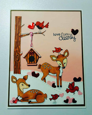 Love  you deerly by Billie features Deer Friend, Land Borders, Newton's Birdhouse, and Newton's Hangs Out by Newton's Nook Designs; #newtonsnook