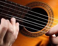 closeup of nylon strings