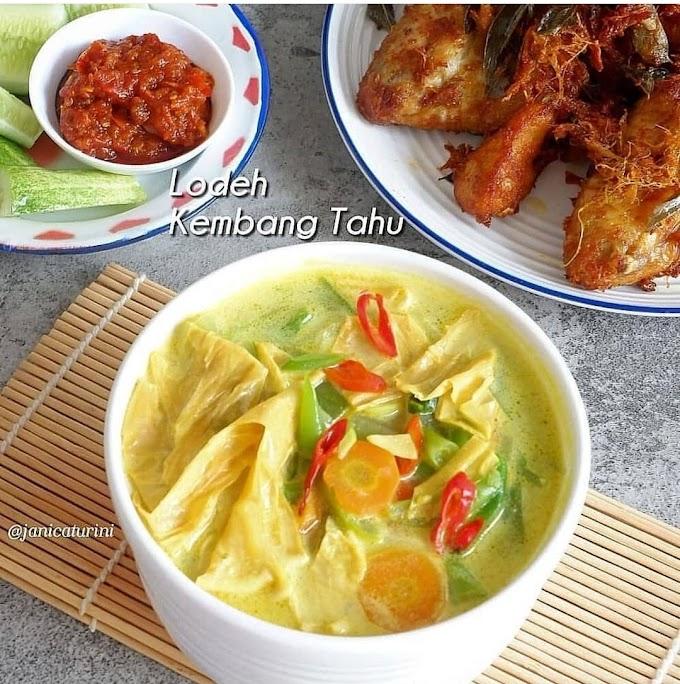 Resep Spesial Favorit Lodeh Kembang Tahu