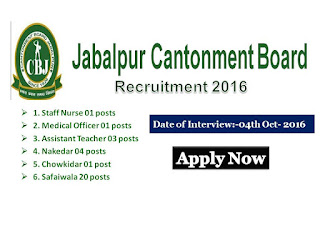 Staff Nurse, vacancy,Jobs, Notification, Army Jobs, cantonment, Jabalpur, Madhya Pradesh,Nursing Recruitment, Recruitment,