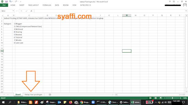 Sheet Excel Hilang