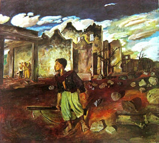 """Seko (perintis gerilya)"" by S.Sudjojono, Medium: oil on canvas, Size: 173,5cm x 194cm *) Koleksi Bung Karno"