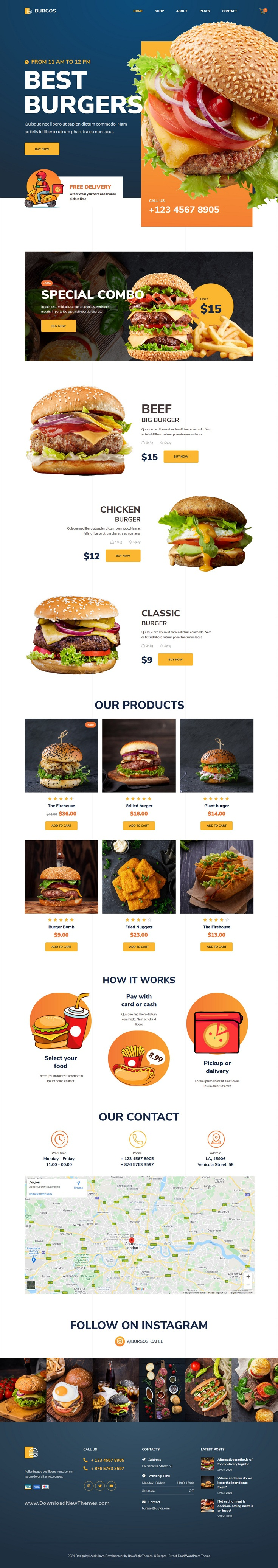 Street Food WordPress Theme