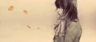 ilustrasi wanita bersedih