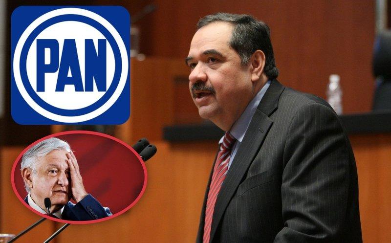 """""""AMLO quiere matar de hambre a los partidos políticos"""", acusa el PAN y pide financiamiento externo"""