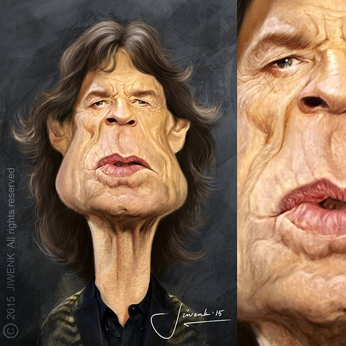 Mick Jagger por Jiwenk