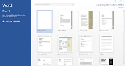 cara menonaktifkan start screen di ms office 2013