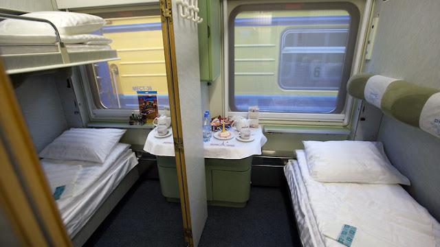 Primeira e segunda classe nos trens na Turquia
