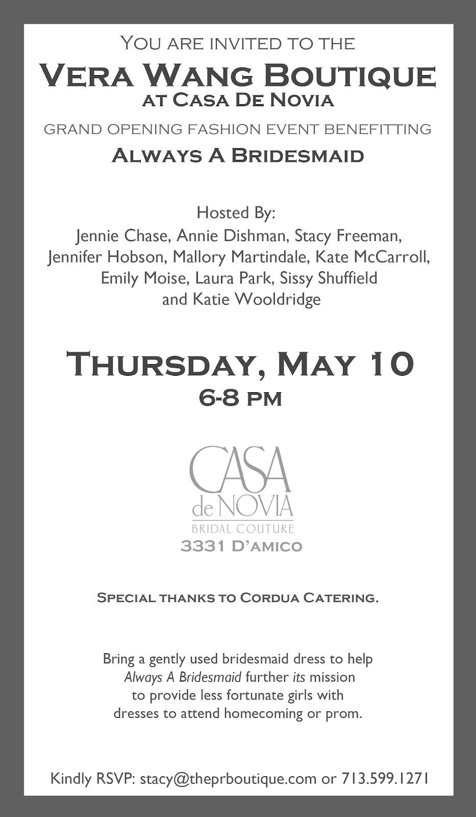Houston Gals- You're Invited to Casa de Novia- Debut of ...