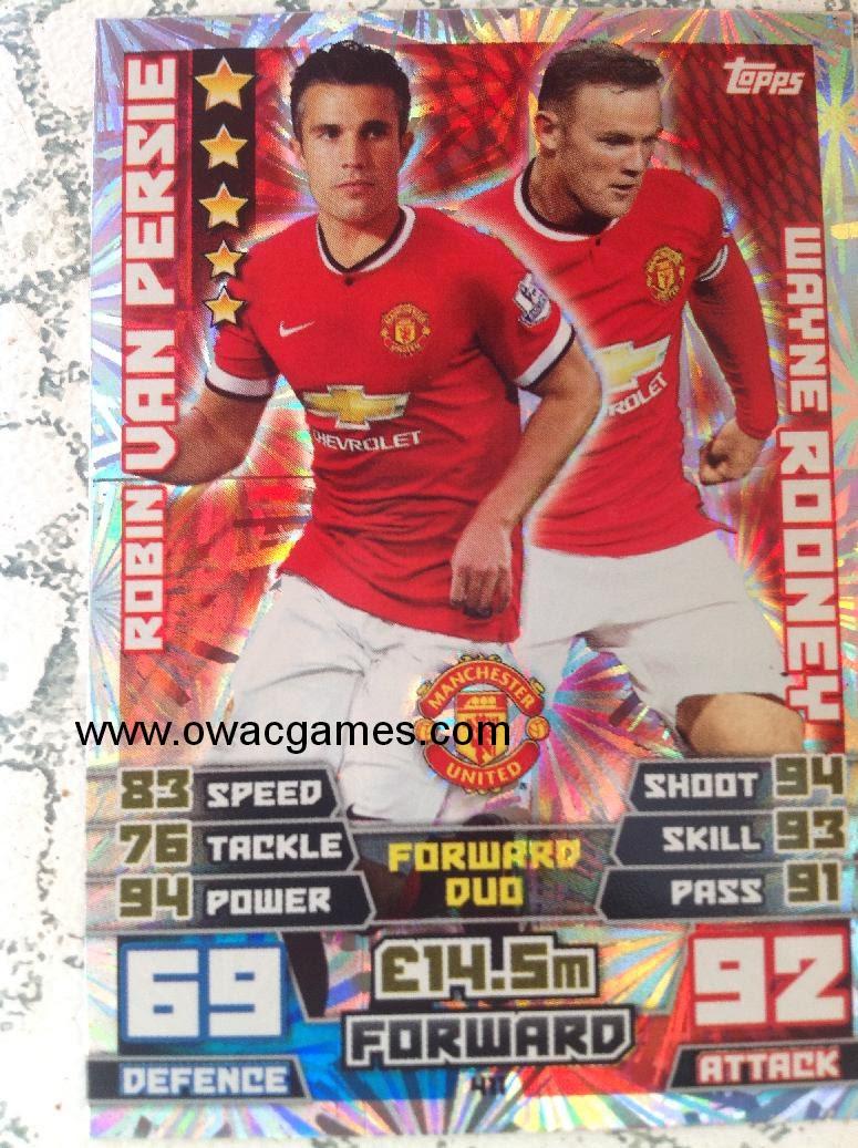 430 R Van Persie-Manchester United Match Attax 2014//2015-Record Breaker