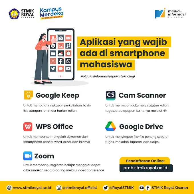 5 Aplikasi yang Wajib Ada di Handphone Mahasiswa