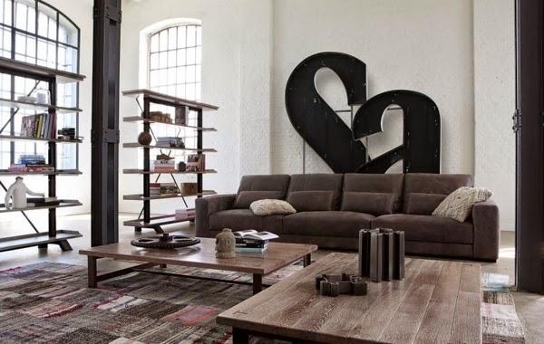 sala decorada con gris
