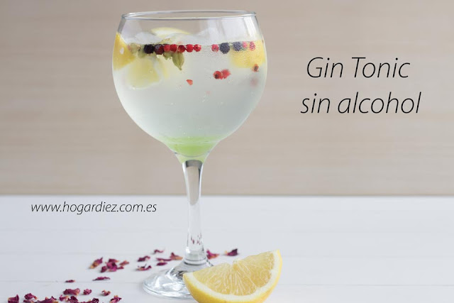 Gin tonic sin alcohol