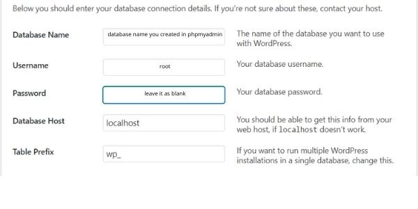WordPress install