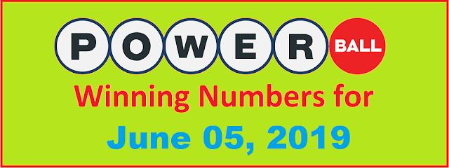 PowerBall Winning Numbers for Wednesday, June 05, 2019