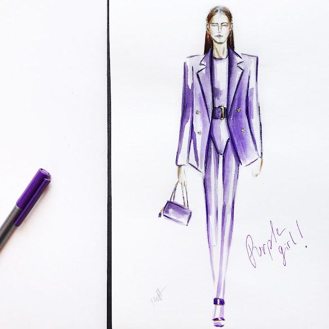 versace ss 18 look fashion illustration