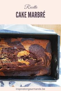 Recette du cake marbré classique au chocolat et à la vanille