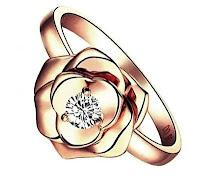 cincin tunangan emas resplendent rose