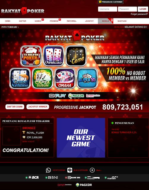 Rakyatpoker Situs Agen Judi IDN Poker Online Terpercaya 2020