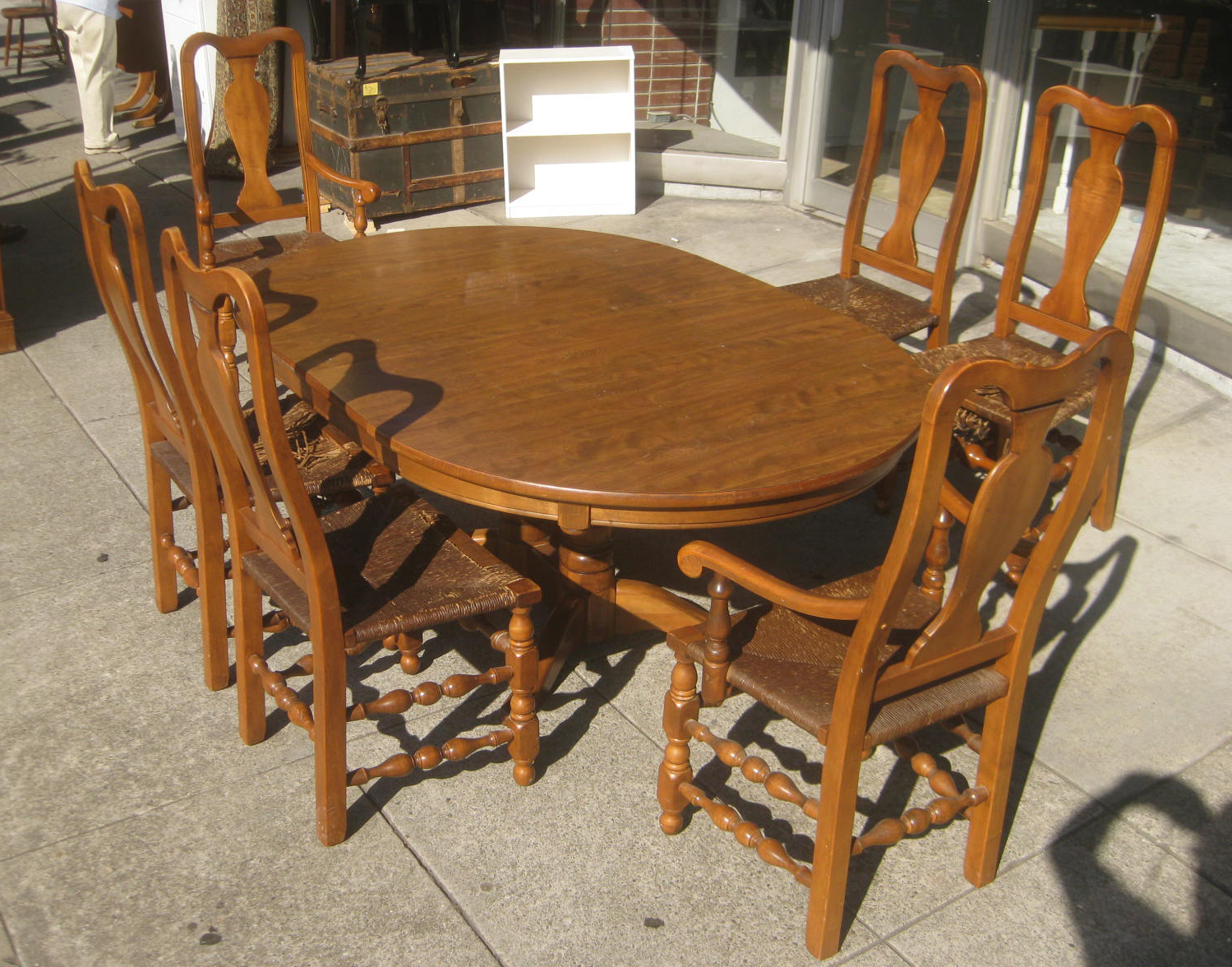 Heywood Wakefield Dining Table And Chairs Smart Chair Accessories Uhuru Furniture Collectibles Sold