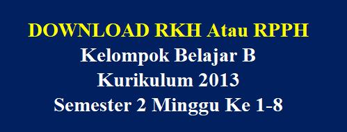 RPPH Kelompok Belajar B Semester 2 Minggu Ke 1-8