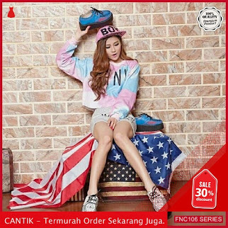 FNC106S86 Sweater Pink Crop Babytery Wanita BMGShop To Serba 40 Ribuan