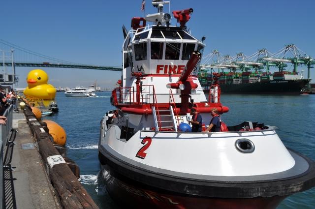 Vincent Thomas Bridge, Port of LA, Waterfront, Tall Ship Festival