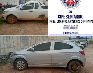 Veículos com restrição de roubo ou furto são recuperados em Morro do Chapéu
