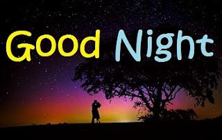 good night kiss image