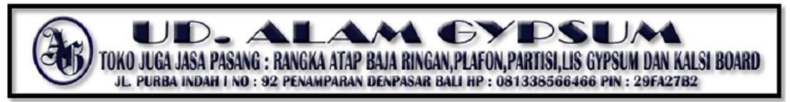 Biaya Pasang Plafon Gypsum Kalsiboard di Denpasar Bali