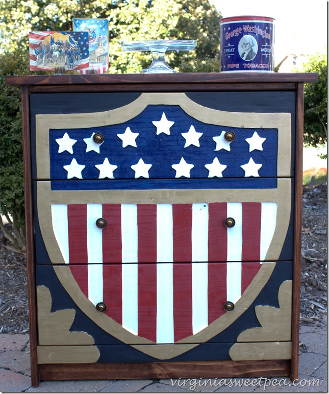 Patriotic dresser makeover