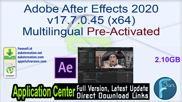 Adobe After Effects 2020 v17.7.0.45 (x64) Multilingual Pre-Activated