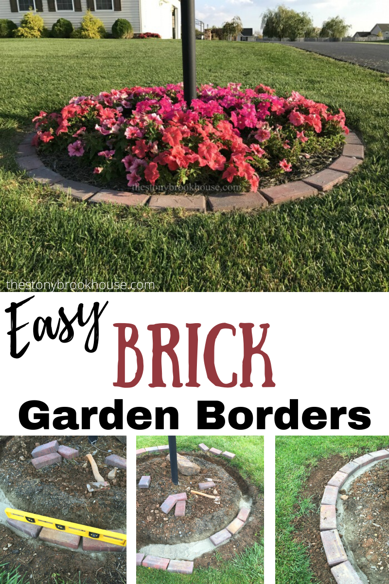 Easy Brick Garden Borders