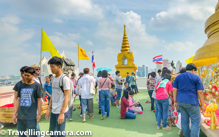 "The structure that Wat Saket is best known for is its 80 meter high hill called ""Golden Mount"" and the huge gilded stupa on top of it. It was once the highest point in Bangkok.    Related Blogpost - Birds of Ayuthhaya 