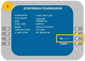 Cara Bayar UTBK Lewat ATM Bank Mandiri